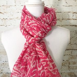 Accessories - Pink Animal Print Scarf